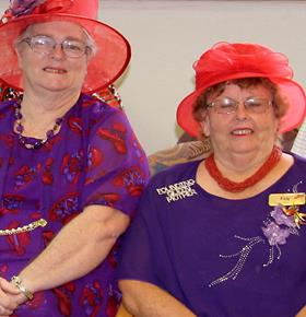 Red Hat Society ladies attend Council's meeting on February 4