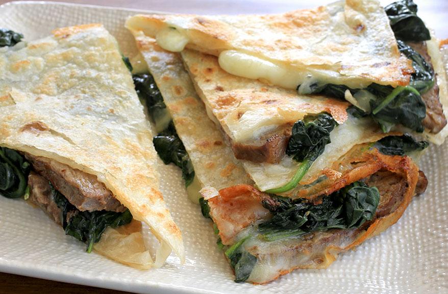 Steak & Spinach Quesadilla