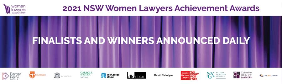 NOMINATE NOW FOR 2021 NSW WOMEN LAWYERS ACHIEVEMENT AWARDS
