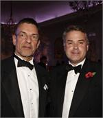 Tim Loughton MP (right) and PAC's CEO Peter Sandiford at PAC's Gala Dinner last November
