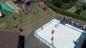 Ice skating in July