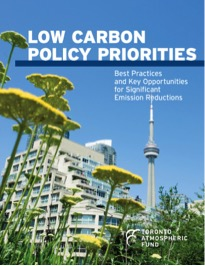 "Cover of report ""Low Carbon Policy Priorities: Best Practices and Key Opportunities for Significant Emission Reductions"""