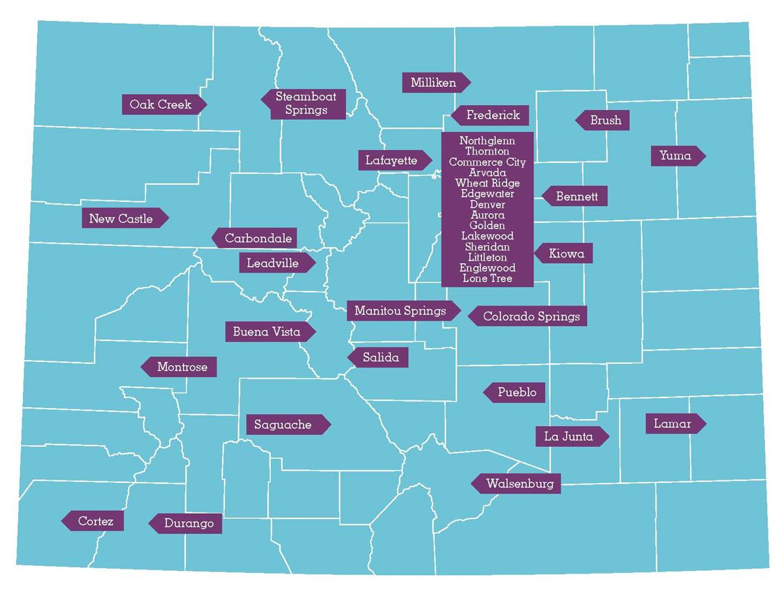 Livewell Colorado HEAL Cities Map