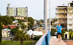 Photo of Gladstone CBD taken from Marina bridge