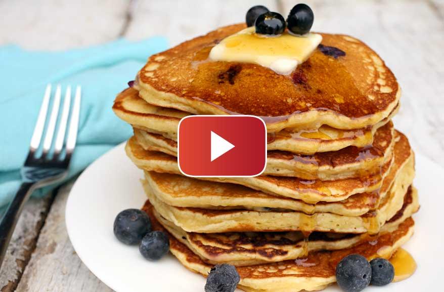 Einkorn Blueberry Pancakes