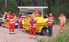 Photo of SES volunteers