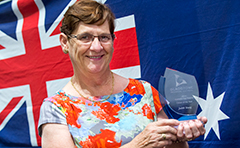 Photo of 2014 Australia Day Citizen of the Year Judith Young