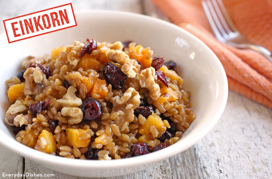 Einkorn Wheat Berry Winter Breakfast Bowl