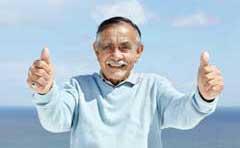 Happy senior resident