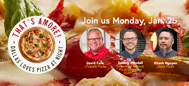 Register for That's Amore! a 24HourDallas Zoominar, Monday, Jan. 25, 2021, at 4 p.m.