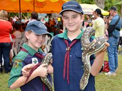 Scouts with snakes from Ecofest 2012