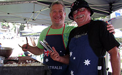 A photo of residents hosting an Australia Day barbecue thanks to a Council donation