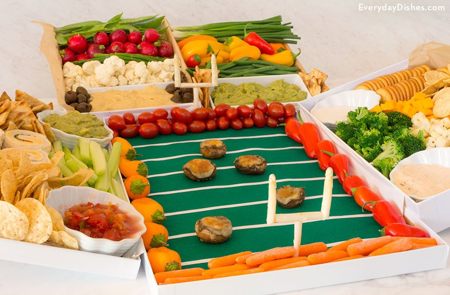 Game day vegetable football stadium