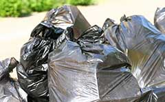 Garbage bags ready to dump