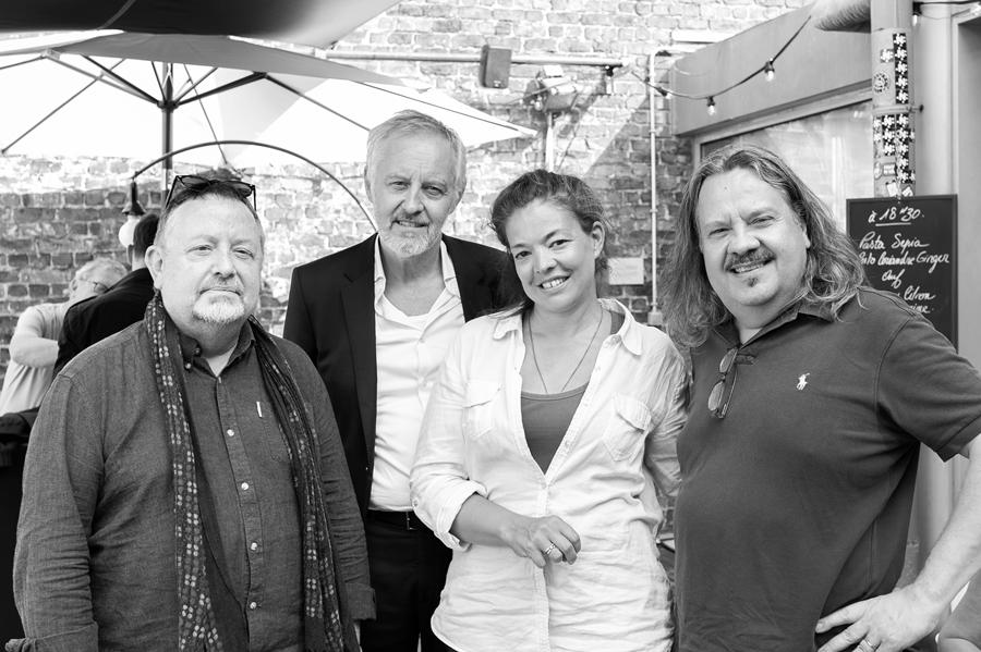 Paul Poelmans, Johan Van Assche, Julie Basecqz en Christian Martin