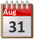 August 31 calendar reminder