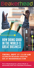 Ad: Beakerhead event - How doing good in the world is great business