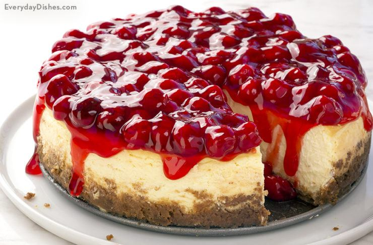 Light and Airy Cherry Cheesecake
