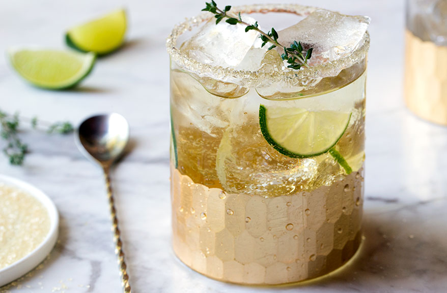 Thyme & Key Lime Cocktail