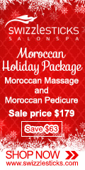 Ad: Swizzlesticks Salon Spa - Save on the Moroccan Holiday Package