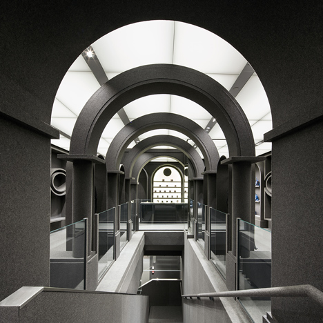 Viktor & Rolf's first flagship boutique covered with grey felt