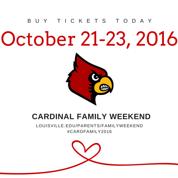 image advertising cardinal family weekend on october 21-23