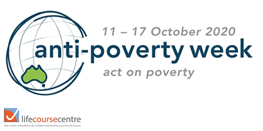 Anti-poverty week banner 2020