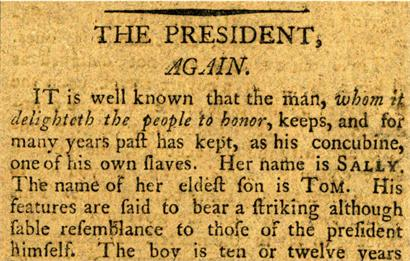 "From ""The President, Again"" by James Thomson Callender (1802)"