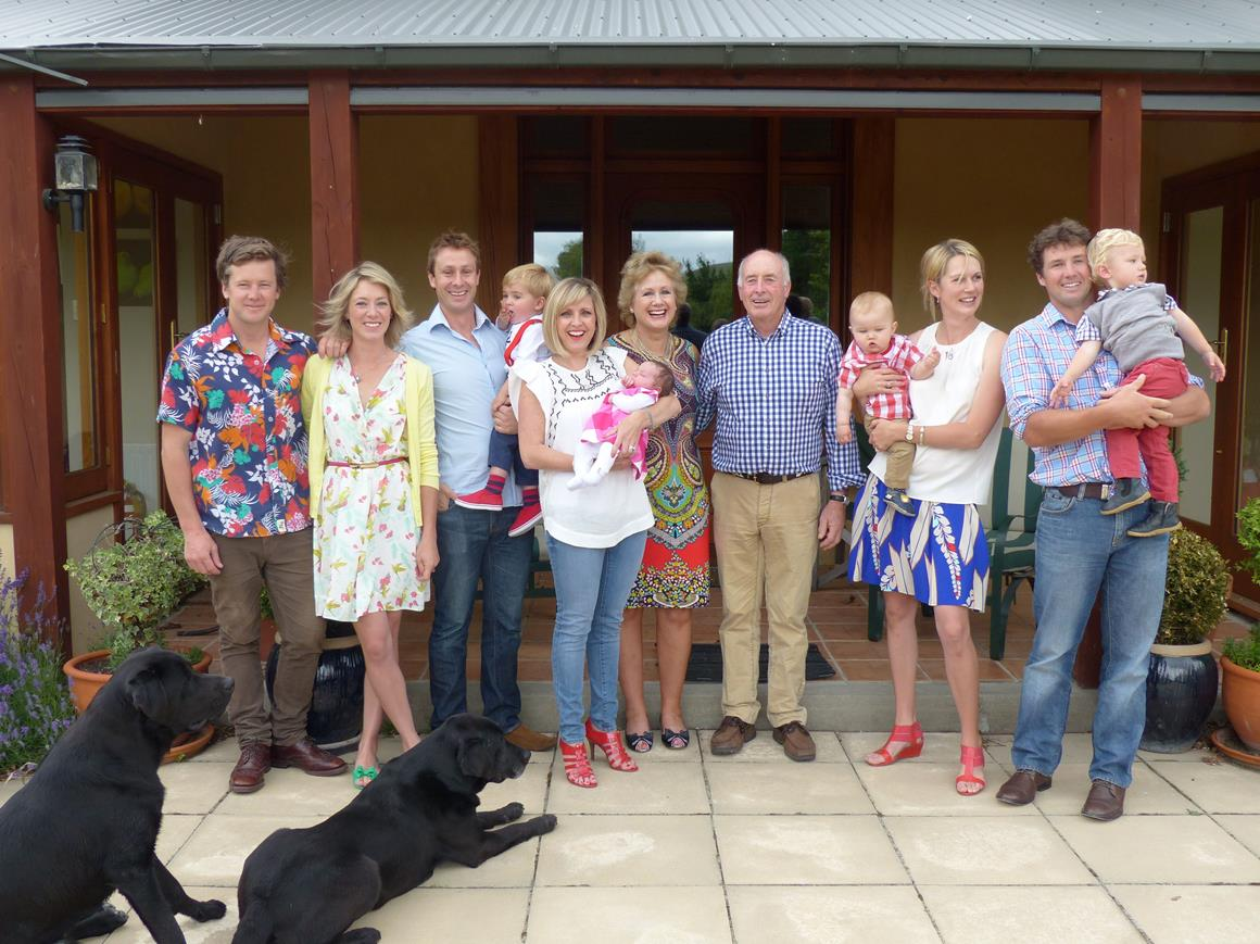 The Guild Family at High Peak, Christmas 2014