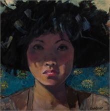 Alexandra Gardener - Ayumi in a Feather Hat