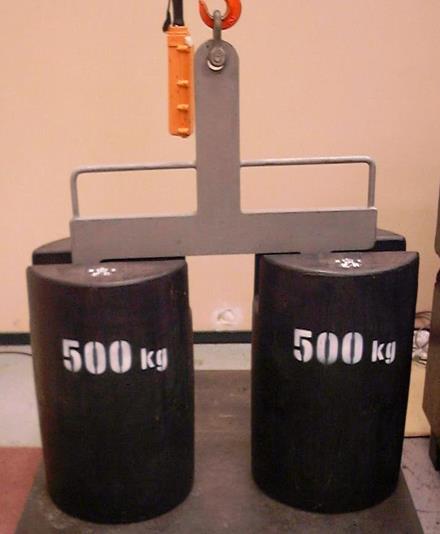 500 kg mass standards