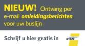 Ontvang per e-mail omleidingsberichten voor uw buslijn. Schrijf u hier gratis in.