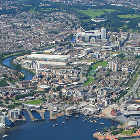 Photo of Cardiff Bay & city centre