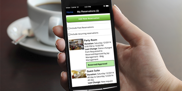 Amenity Reservations – Now MOBILE – and Better Than Ever!