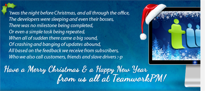 TeamworkPM Christmas Message