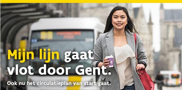 Mijn lijn gaat vlot door Gent.