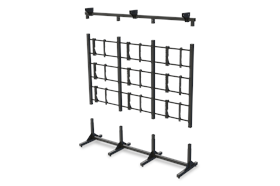 Modular Video Wall Stands:  MVWS-3X3-46
