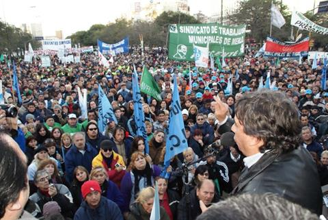 Argentina: municipal workers mobilise for collective bargaining rights