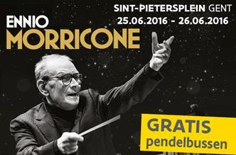 Ennio Morricone op Sint-Pietersplein Gent