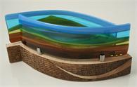 Scott Irvine - Journey glass/ wood sculpture