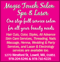 Magic touch salon spa and laser ad