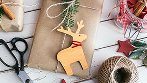 Homemade wrapped Christmas presents