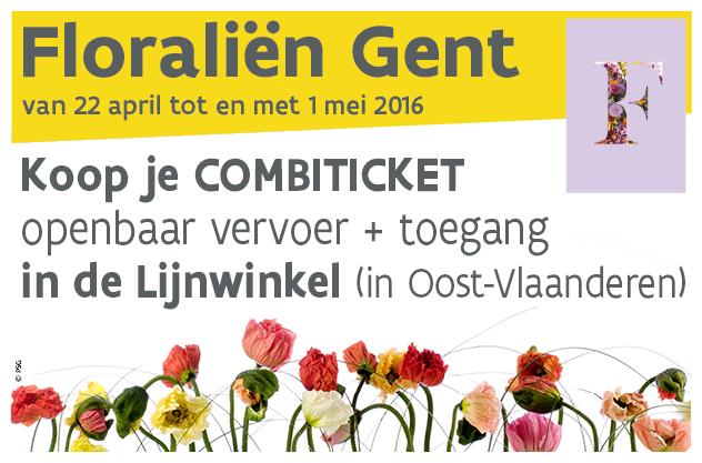 Koop je combiticket Floraliën vooraf in een Lijnwinkel in Oost-Vlaanderen