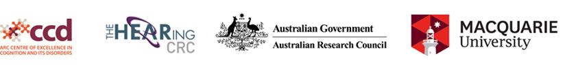 Logo Banner - CCD, HEARing CRC, ARC, MQU