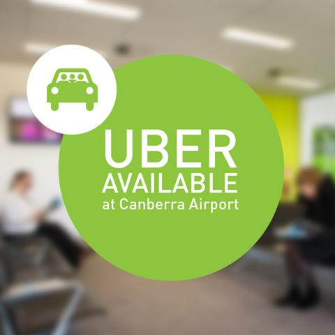Uber Available from Canberra Airport