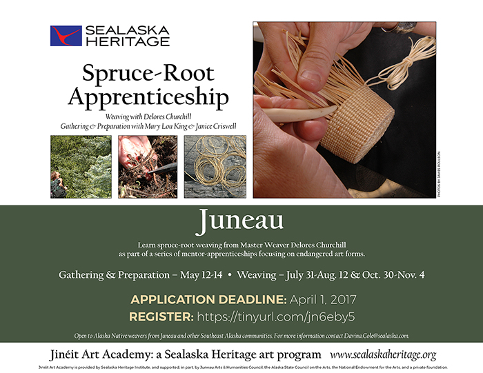 Spruce Root Apprentice - Sealaska Heritage - DEADLINE @ Juneau AK