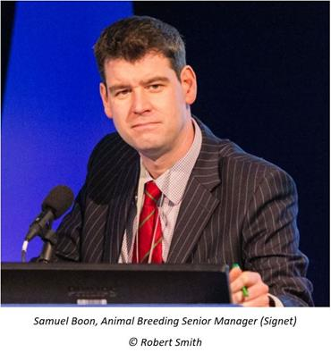 Samuel Boon, Animal Breeding Senior Manager (Signet) © Robert Smith