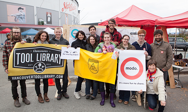 Modo sharing station at Winter Market
