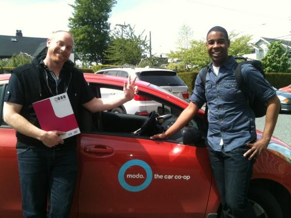 Out In Schools team travels in style... with Modo!