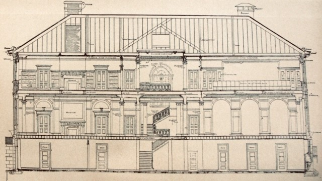 Old building plans of the Peabody